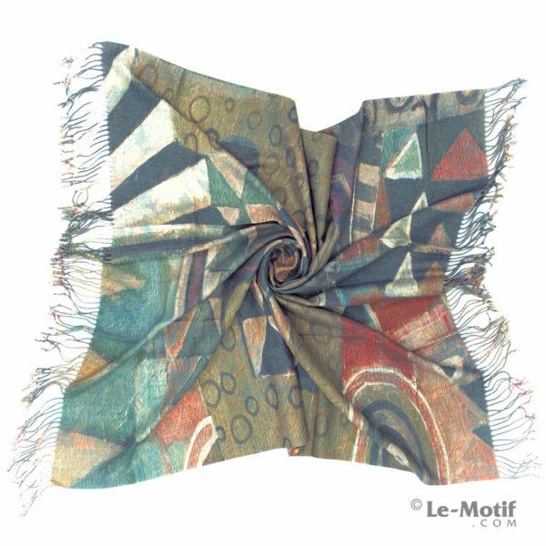 Платок Le Motif из шерсти и хлопка. Фото для каталога 1, 15GF323