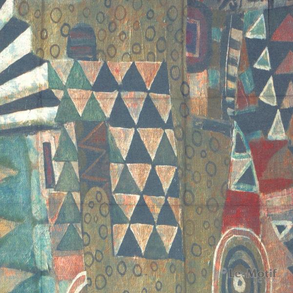 Платок Le Motif из шерсти и хлопка. Абстрактное изображение 1