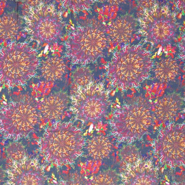 Платок Le Motif из шерсти и хлопка. Абстрактное изображение 2