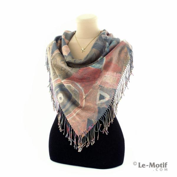 Платок Le Motif из шерсти и хлопка на шее, арт. 15GF323