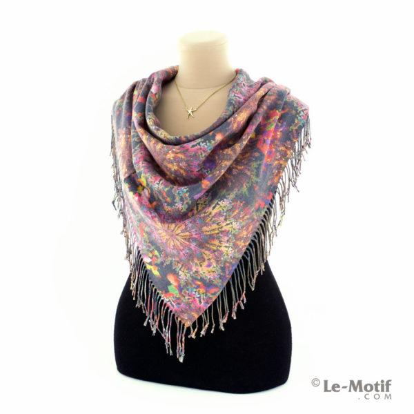 Платок Le Motif Couture из шерсти и хлопка способ завязывания