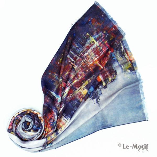 Шарф Le Motif из шерсти и хлопка. Фото для каталога 1. 15LS15-2