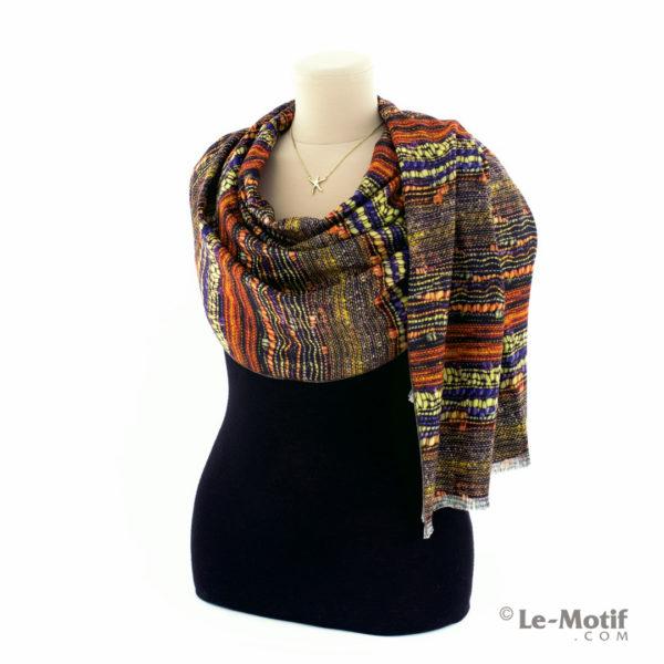 Шарф Le Motif Couture из шерсти и хлопка. Как красиво завязать.