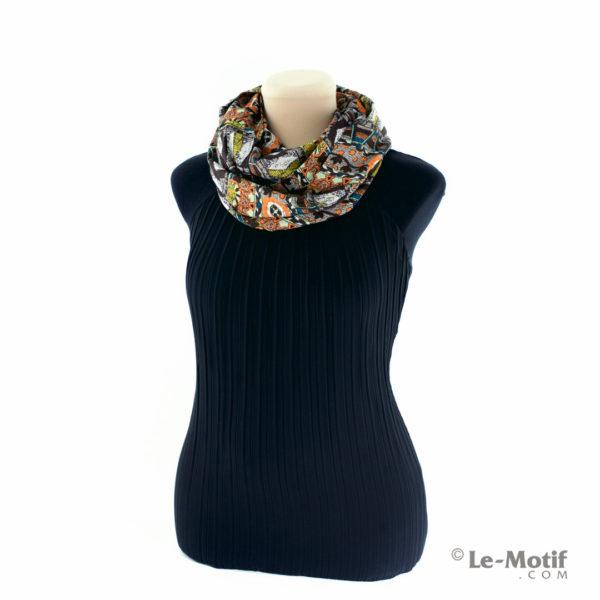Шарф-снуд Le Motif Couture из шёлка и хлопка, Способ завязывания