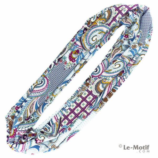 Шарф-снуд Le Motif Couture из шёлка и хлопка. Фото для каталога