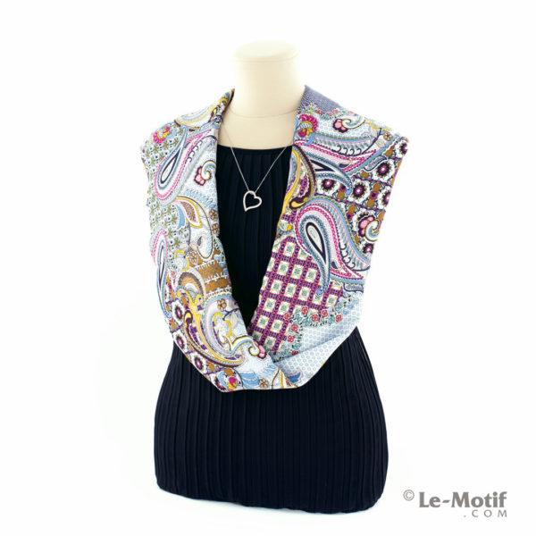 Шарф-снуд Le Motif Couture из шёлка и хлопка на шее, BT02-6