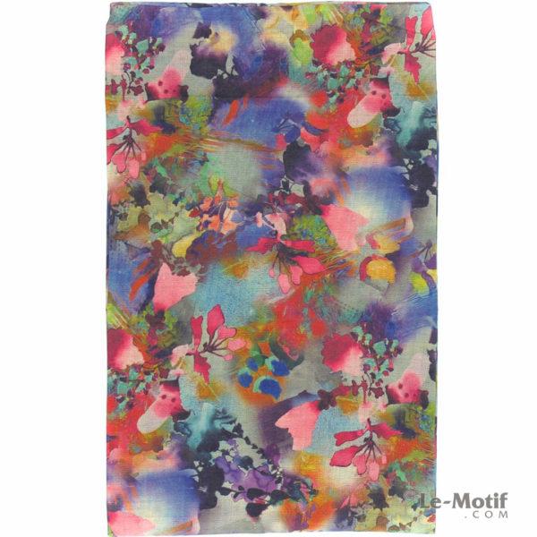 Шарф-снуд Le Motif Couture из хлопка. Цветочные узоры, BT03-1