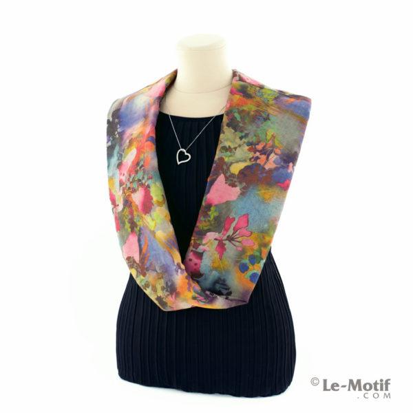 Шарф-снуд Le Motif Couture из хлопка на шее, арт. BT03-1