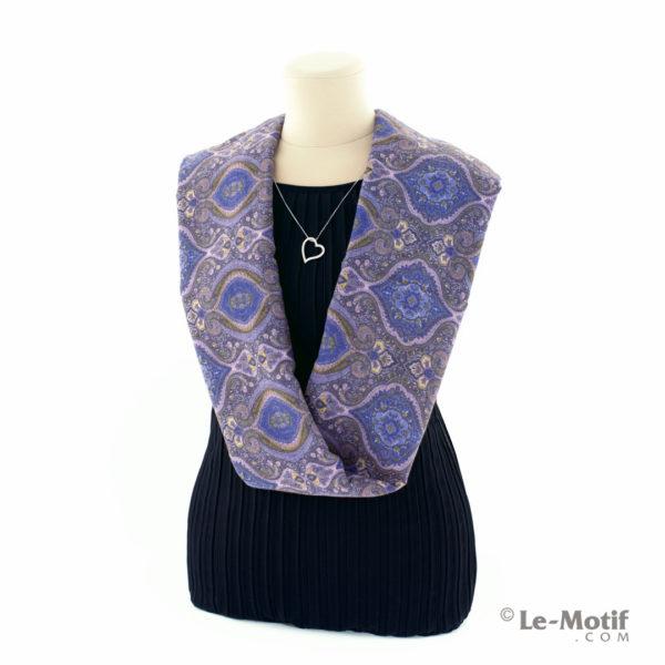Шарф-снуд Le Motif Couture из хлопка на шее, арт. BT03-3