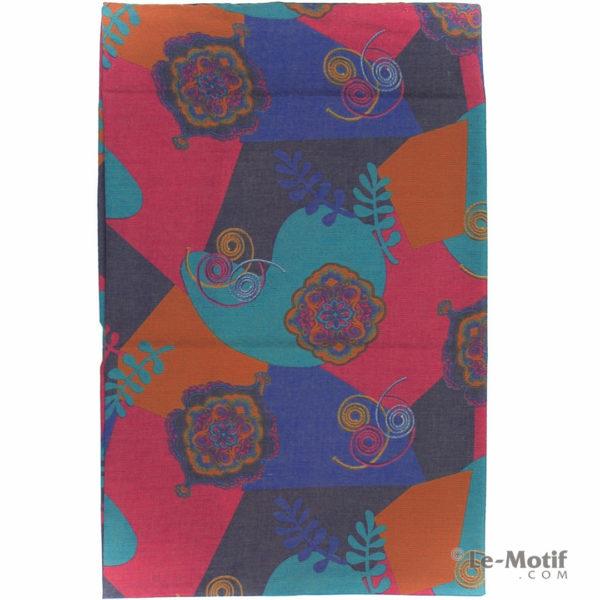 Шарф-снуд Le Motif Couture из хлопка. Яркие узоры, арт. BT03-5