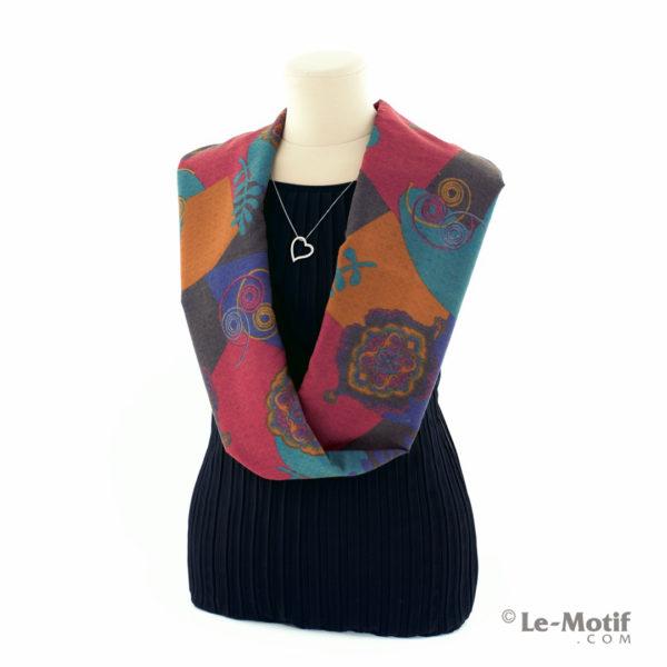 Шарф-снуд Le Motif Couture из хлопка на шее, арт. BT03-5