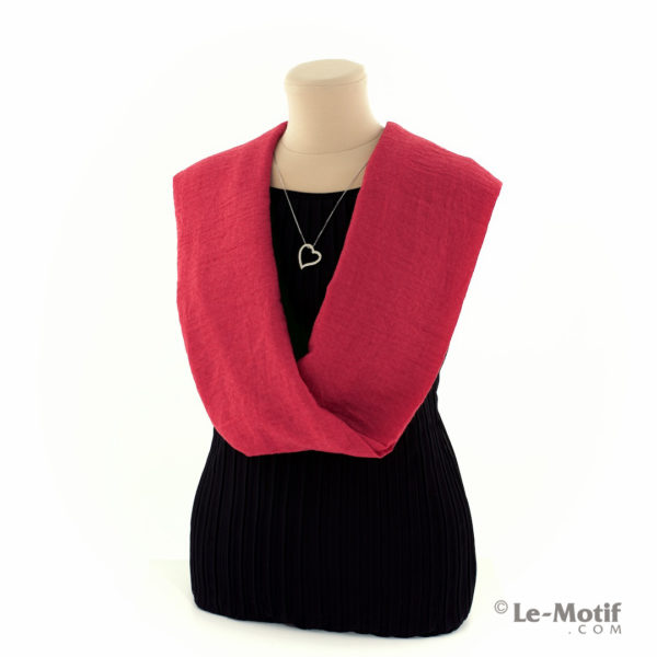 Шарф-снуд Le Motif Couture из хлопка на шее, арт. BT05-5