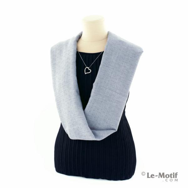 Шарф-снуд Le Motif Couture из хлопка на шее, арт. BT05-7