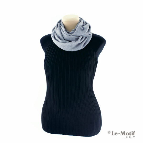 Шарф-снуд Le Motif Couture из хлопка. Как красиво завязать