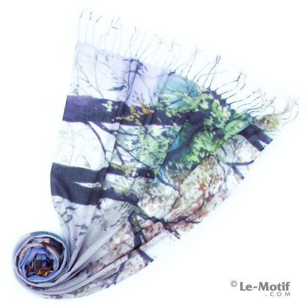 Палантин Le Motif из шёлка и хлопка. Фото для каталога. GD15-605