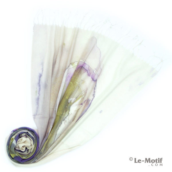 Палантин Le Motif из шёлка и хлопка. Фото для каталога, GD15-619