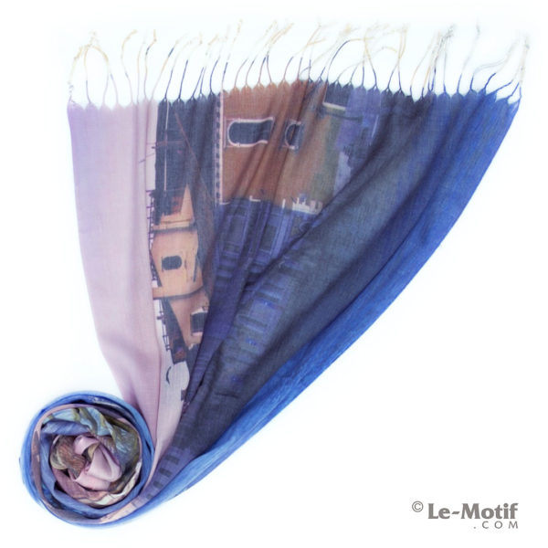 Палантин Le Motif из шёлка и хлопка. Фото для каталога, GD15-661