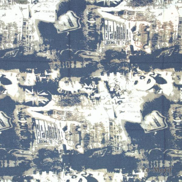 Платок Le Motif из шерсти и хлопка. Абстрактное изображение 1.