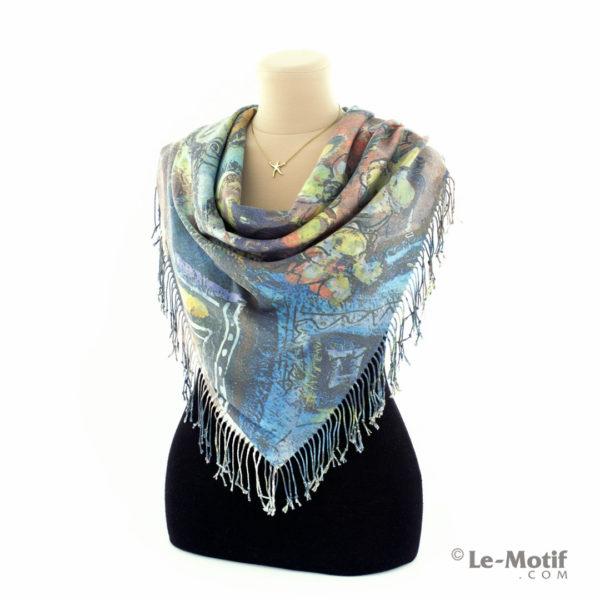 Платок Le Motif Couture из шерсти и хлопка на шее, арт. GF15-8