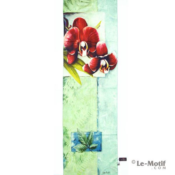 Шарф Le Motif из шерсти и хлопка. Открытка с изображением цветов