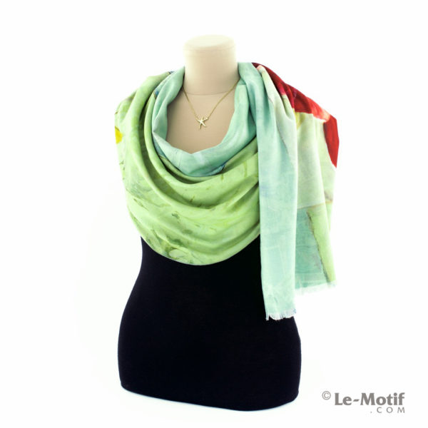Шарф Le Motif Couture из шерсти и хлопка на шее, арт. LS15-545