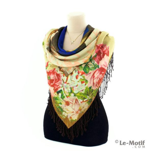 Платок Le Motif из шерсти и хлопка на шее, арт. LSF15-666