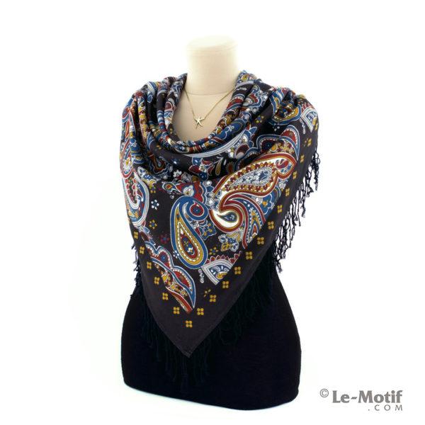 Платок Le Motif из шерсти и хлопка на шее, арт. LSF15-688