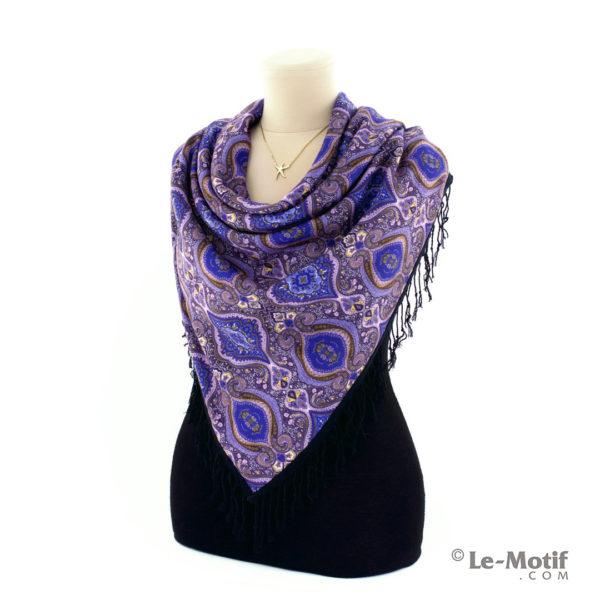 Платок Le Motif из шерсти и хлопка. Как красиво завязать