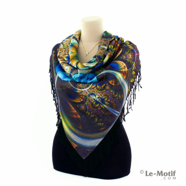 Платок Le Motif из шерсти и хлопка. Как красиво завязать.