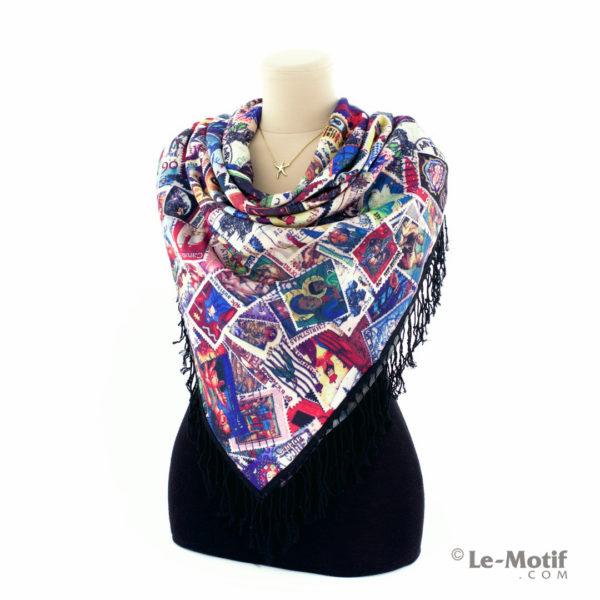 Платок Le Motif из шерсти и хлопка на шее, арт. LSF666