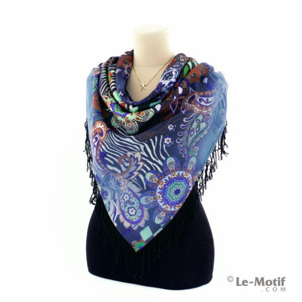 Платок Le Motif из шерсти и хлопка на шее, арт. LSFYS32-1
