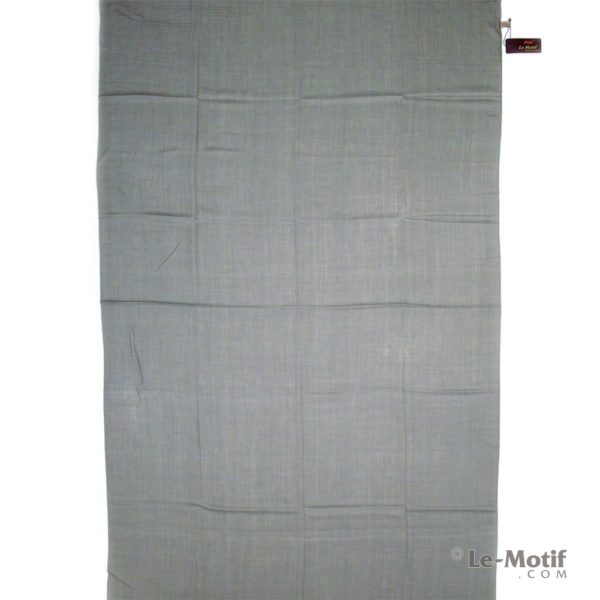 Палантин Le Motif из шёлка и хлопка серый, арт. LX01-14