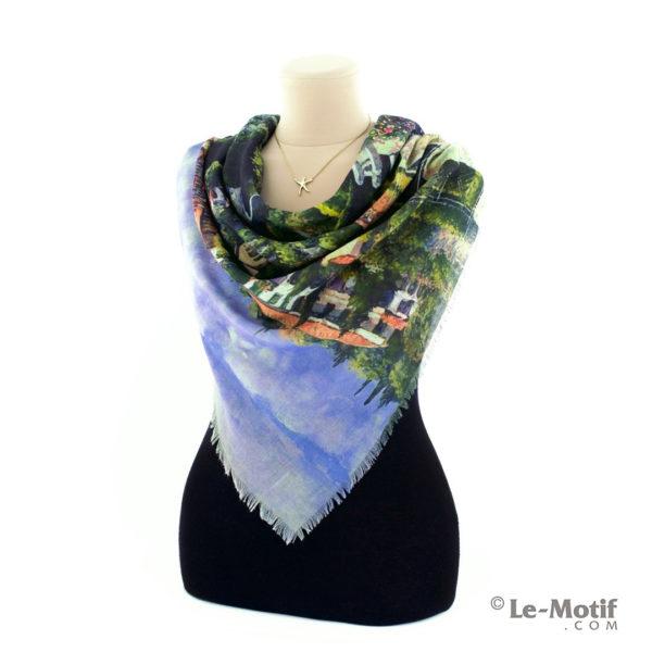 Платок Le Motif из хлопка с вискозой на шее, арт. RSF15-531