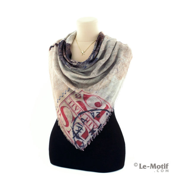 Платок Le Motif из хлопка с вискозой на шее, арт. RSF15-569