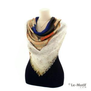 Платок Le Motif из хлопка с вискозой на шее, арт. RSF15-666
