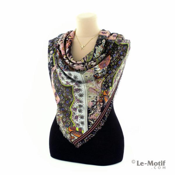 Платок Le Motif Couture из шёлка и хлопка на шее, арт. S150-1