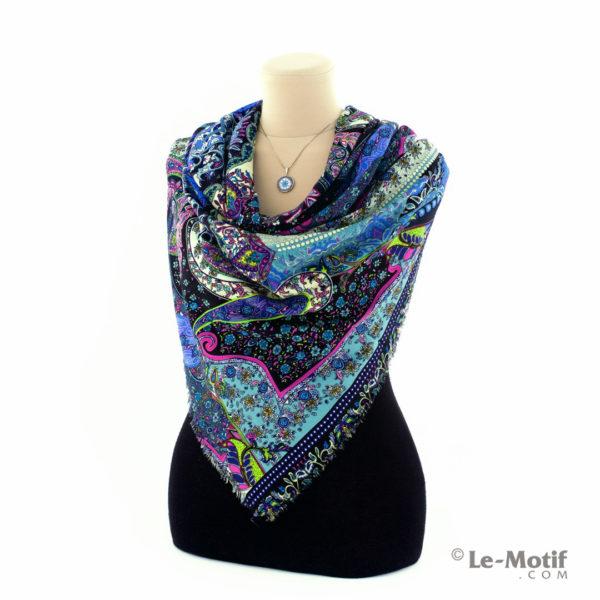 Платок Le Motif Couture из шёлка и хлопка на шее, арт. S150-2