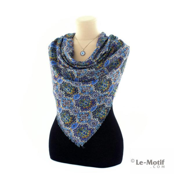 Платок Le Motif Couture из шёлка и хлопка на шее, арт. S157-3
