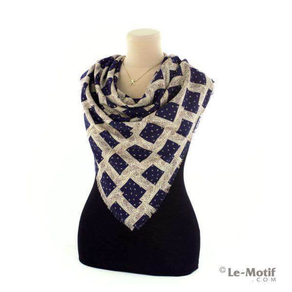 Платок Le Motif Couture из шелка и хлопка на шее, арт. S171-2