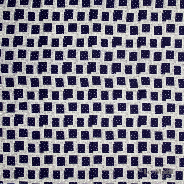 Платок Le Motif из шёлка и хлопка. Орнамент пейсли, арт. S171-2