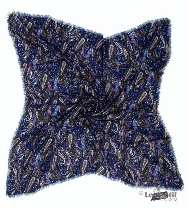 Платок Le Motif из шёлка и хлопка. Фото для каталога, S182-2