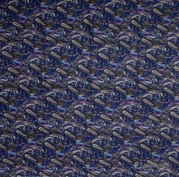 Платок Le Motif из шёлка и хлопка. Орнамент пейсли, арт. S182-2