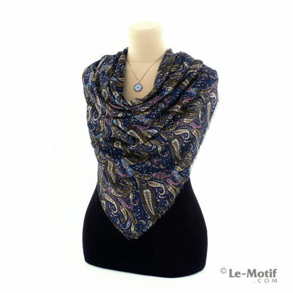 Платок Le Motif Couture из шёлка и хлопка на шее, арт. S182-2