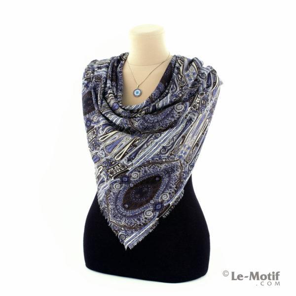 Платок Le Motif Couture из шёлка и хлопка на шее, арт. S185-1