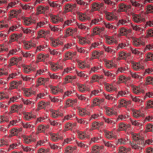 Платок Le Motif из шёлка и хлопка, Изображение алых пейсли