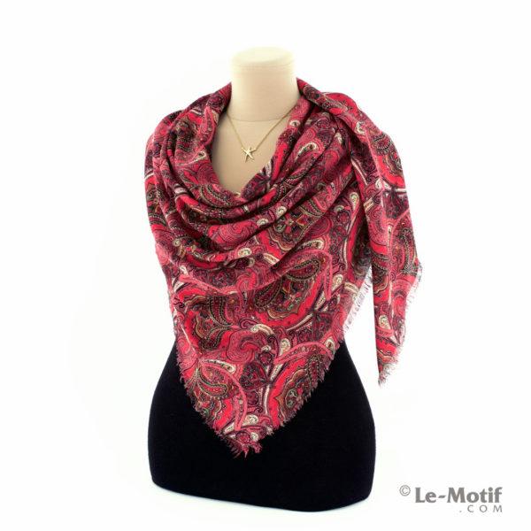 Платок Le Motif Couture из шёлка и хлопка на шее, арт. S193-1