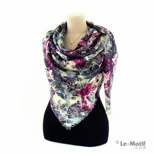 Платок Le Motif Couture из шёлка и хлопка на шее, арт. S195-1