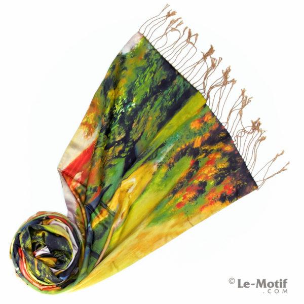 Палантин Le Motif из хлопка с вискозой. Фото для каталога 1.