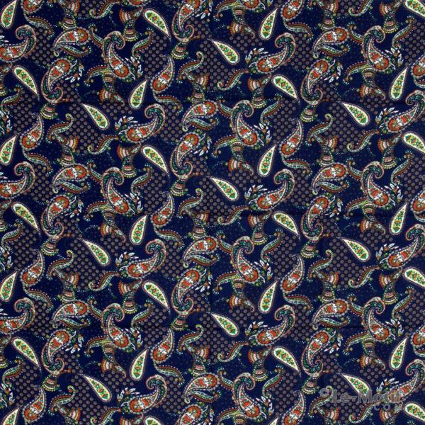 Платок Le Motif из шёлка и хлопка орнамент пейсли SM161-1
