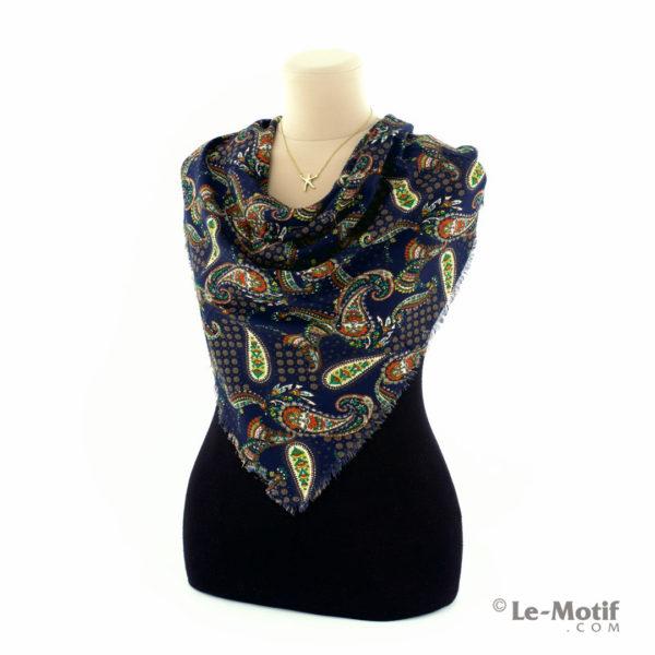 Платок Le Motif Couture из шёлка и хлопка на шее, арт. SM161-1
